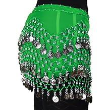 Moderno pañuelo de gasa de Hoter, para colocar en la cadera, con monedas plateadas