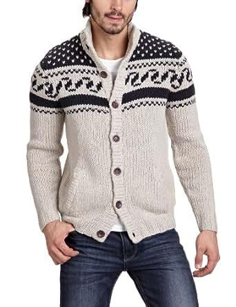 North Sails Men's Long - regular Cardigan - Beige - Beige (beige 79) - 48 (Brand size: M)