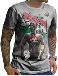 Stylotex Herren T-Shirt Basic So sehn Sieger aus Guy Ungarn Hungary