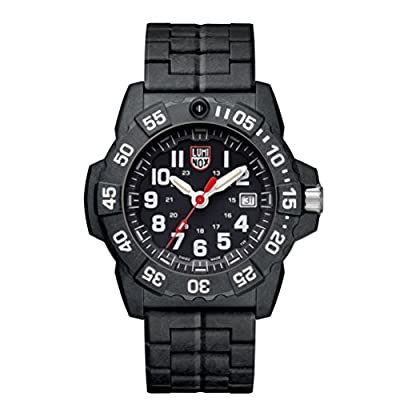 Luminox new NavySEAL carbon compound 3500 series Watch with carbon compound Case Black|White Dial and PC / Carbon Bracelet Strap XS.3502