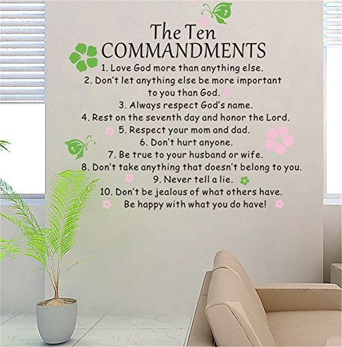 Stickers Muraux Vinyl Peel And Stick Mural Wall Sticker Decals For Room Home The Ten Commandents