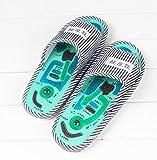 SHANGXIAN Fuß Massage Hausschuhe mit Magnet Startseite Schuhe Gesundheitsvorsorge Taichi Akupunktur Massage Hausschuhe,Gray,40~43