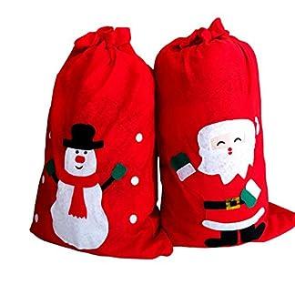 Milopon Saco de Navidad Bolsas de Regalo Navidad weihnac htstüten übergroß Regalo Bolsillos Papá Noel Muñeco de Nieve Bolsa de Dulces 90cm * 53cm patrón Azar