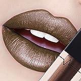 CICIYONER Damen Metall Lippenstift Lip Gloss Liquid Lippe Kosmetik, 24 Farben (11 #)