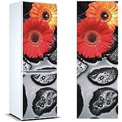 Vinilo para Frigorífico Margaritas   Varias Medidas 185x60cm   Adhesivo Resistente y de Fácil Aplicación   Pegatina Adhesiva Decorativa de Diseño Elegante