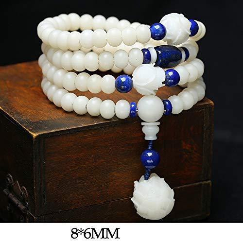 BANGLEW Armband Frauen Männer Naturstein Healing Edelsteine Perlen Armbänder, HandmadeSchmuck Bodhi Buddha Perlen Frauen/Männer, D