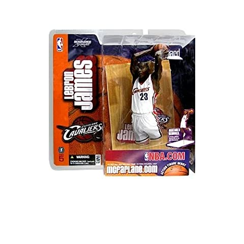 2003 - NBA - McFarlane Sportspicks - Series 5 - LeBron James #23 - Forward - Cleveland Cavaliers - Action Figure Debut - White Uniform - Out of Production - New - Collectible