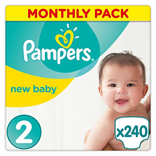 Pampers Premium Protection Nappies New Baby Monthly Saving Pack – Size 2, Pack of 240