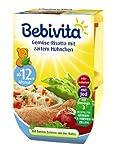 Bebivita Gemüse-Risotto mit zartem Hühnchen, 4er Pack (4 x 500 g)