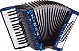Weltmeister Piano Akkordeon Rubin blauperloid