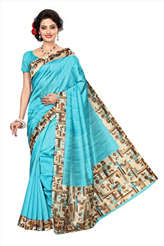 Saree(Saree For Women Party Wear Half Sarees Offer Designer Below 500 Rupees Latest Design Under 300 Combo Art Silk New Collection 2018 In Latest With Designer Blouse Beautiful For Women Party Wear Sadi Offer Sarees Collection Kanchipuram Bollywood Bhagalpuri Embroidered Free Size Georgette Sari Mirror Work Marriage Wear Replica Sarees Wedding Casual Design With Blouse Material (Sky Blue)  available at amazon for Rs.340
