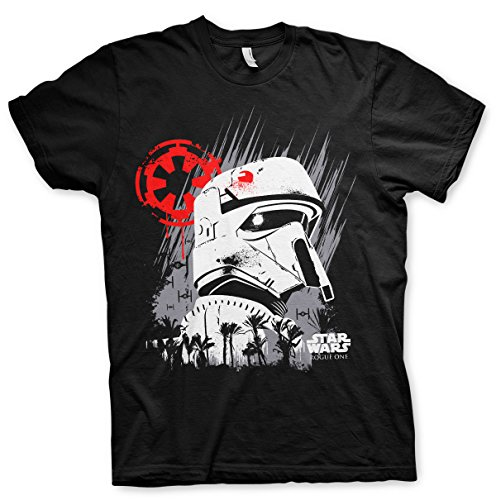 Star Wars Rogue One Shore Trooper - Herren T-Shirt - Geschenkideen M Schwarz