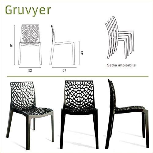 Up-On-Gruyver-Chaise-en-polypropylne-pour-Intrieur-et-Extrieur-bar-restaurant-salle-dattente-cuisine-sjour-salon-jardin-Fabrique-en-Italie