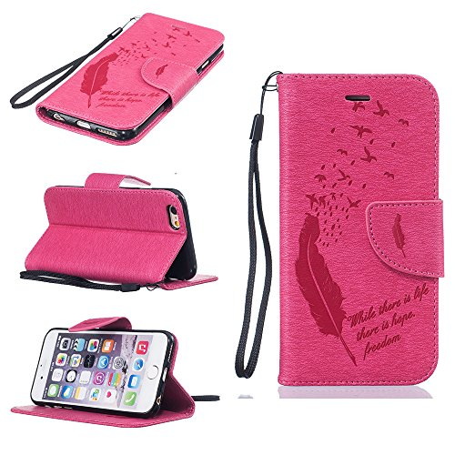 Nutbro iPhone 6S Case, iPhone 6 Case Wallet,Premium PU Leather Flip Folio Carrying Magnetic Closure Protective Shell Wallet Case Cover for iPhone 6 / 6S (4.7) with Kickstand Stand HX-iPhone-6-42