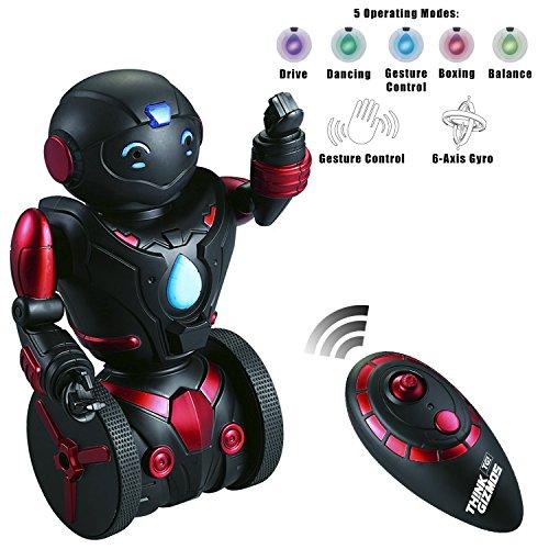 Jouet Balance Robot radiocommandé pour enfants Toy for Kids – Robot interactif intelligent par ThinkGizmos (Marque déposée) … (Noir et Rouge) 0611138635202