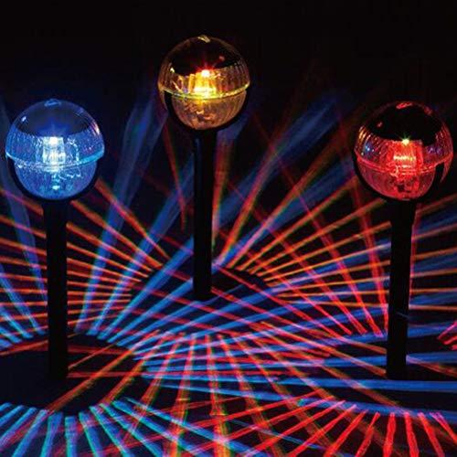 Uonlytech Solar Weg Lichter, wasserdichte Farbwechsel Magic Ball Solar Landschaft Lichter, Solar Rasen Lampe für Halloween Yard Einfahrt Patio Rasen (2Pcs)
