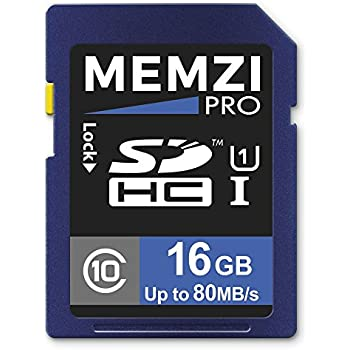 MEMZI PRO 32GO Classe 10 80Mo//s SDHC carte m/émoire pour Canon IXUS ou IXUS HS Appareil Photo Num/érique Compact