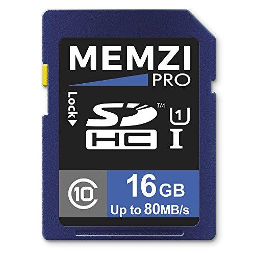 Memzi Pro 16GB Class 1090MB/s, SDHC-Speicherkarte für Canon EOS Rebel T7, und die, die SL1, SL2, T7i, T6, T6s, T6i, T5, T5i, T4i, T3i, T3, T2i Digitalkameras