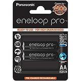 Panasonic eneloop pro, Ready-to-Use Ni-MH Akku, AA Mignon, 2er Pack, min. 2500 mAh, 500 Ladezyklen, mit extrastarker Leistung und geringer Selbstentladung