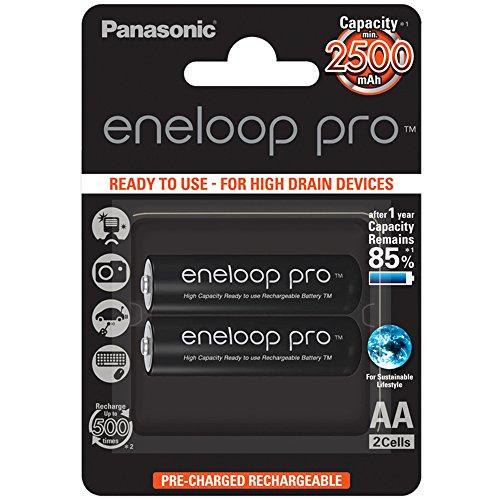 Panasonic eneloop Pro, Batteria ricaricabile AA, Mignon Ni-MH, 2 pezzi