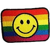 Colorido Felicidad Rainbow Paz sonriente positividad Hippie Patch '7.0 x 5.0 cm' ' - Parche Parches Termoadhesivos Parche Bordado Parches Bordados Parches Para La Ropa Parches La Ropa Termoadhesivo Apliques Iron on Patch Iron-On Apliques