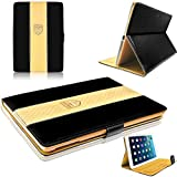 New IPad 9.7 Inch 2017 Case MOCA Luxe PU Leather Magnetic Stand Folio Smart Flip Cover Case For Apple NEW IPad 9.7 Inch 2017 Launched (A1822 / A1823) Flip Case Cover (BLACK !!)
