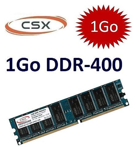CSX mémoire: 1 Go 184 broches DDR-400 (400Mhz, PC-3200, DIMM, CL3) - pour les ordinateures DDR1