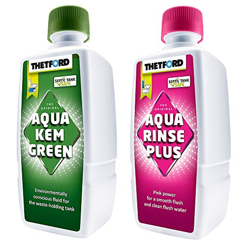 Thetford Mini Sanitärsatz Aqua Rinse 400 ml + Aqua KEM Green 375 ml