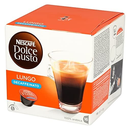 NESCAFÉ Dolce Gusto Lungo Decaff Coffee Pods, 16 Capsules (16 Servings)