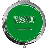 "metALUm - Extragroße Pillendose in runder Form""Flagge Saudi Arabien"" preisvergleich bei billige-tabletten.eu"