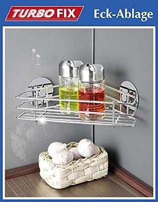 WENKO TurboFIX Eckablage - Küchenablage - OHNE Bohren - Küchen-Eckablage - Badablage - Badregal - Regal - Duschablage - Eckregal von Wenko auf Spiegel Online Shop