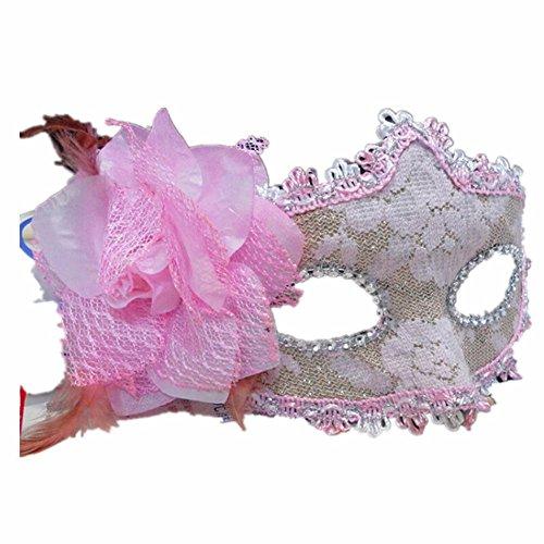 Maskerade,Halloween Neujahr Ball Prinzessin Maske Spitze Party Cos Half Face Maske Pink White Masquerade