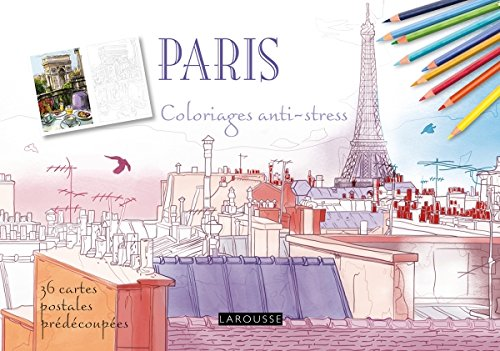 Paris coloriages cartes postales par Collectif
