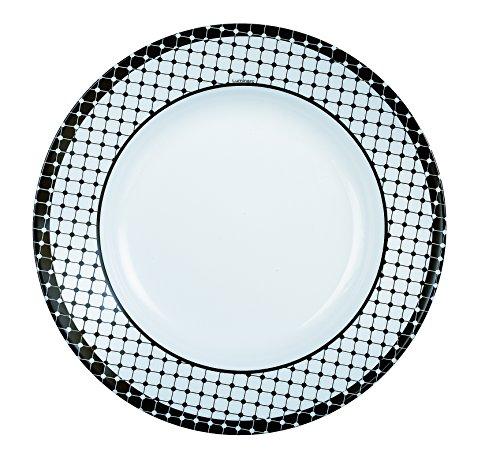 c4af60e69356c5 Luminarc 8010487 Tiago Lot de 6 Assiettes Opale Noir 22 x 22 x 3 cm