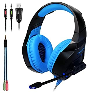 ANRIS ONIKUMA K1-B Computer Wired Gaming Headset with Mic 3.5mm Jack Bass Stereo USB Headphone Earphone for Laptop PC