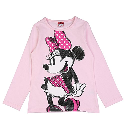 Disney Mädchen Minnie Mouse Shirt, Rosa, Größe 104, 4 Jahre