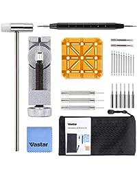 Vastar 29 Stück Uhrenwerkzeug Set, Uhrmacherwerkzeug Set, Uhr Reparaturset, Uhren Armband Werkzeug dient zum Entfernen von Uhrenarmband Federsteg, Uhren Werkzeug zum Wechseln von Uhrgurten