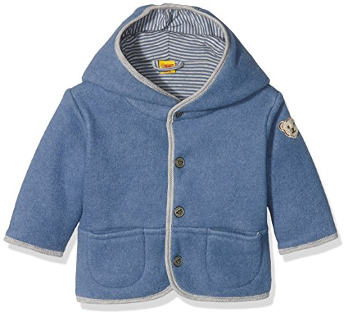 Steiff Collection Jungen Jacke Jacke Fleece, Gr. 74, Blau (moonlight blue 3820)