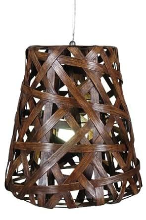 Naeve leuchten 7011914 luminaire suspendu avec abat jour for Luminaire suspendu bois flotte