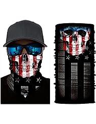 BJ Global Écharpe, tour de cou, masque multifonction et sans couture pour ski, équitation, cyclisme