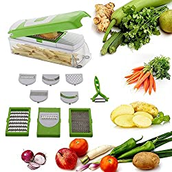 One Stop Shop Kitchen Dicer Vegetable and Fruit Slicer Chipper and Chopper 10in1 (Unbreakable)