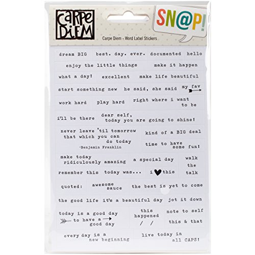 Simple Stories Carpe Diem Stickers 4-inch x 6-inch 8/Pkg-Word Label,