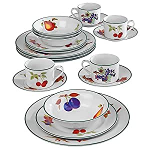 Royal worcester evesham vale 20 piece dinner set amazon for Kitchen set royal