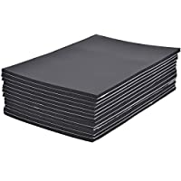 12 Sheets Yaheetech Sound Proofing Deadening Vehicle Insulation Closed Cell Foam Sheet with Adhesive Backing 50cm X 30cm