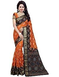 Bandhani Saree ( Nirja Creation Art Silk Bandhani Saree )