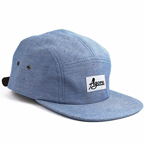 Agora-Fleck-Chambray-5-Panel-Cap-Mtze