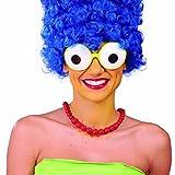 NET TOYS Spaßbrille Glubschaugen Partybrille Froschaugen Marge Simpson Brille Faschingsbrille Funbrille Karnevalsbrille Kostüm Zubehör JGA