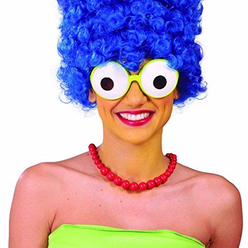 Amakando Partybrille Froschaugen Spaßbrille Glubschaugen Faschingsbrille Funbrille Marge Simpson Brille Kostüm Zubehör JGA Karnevalsbrille (Marge Und Homer Kostüm)