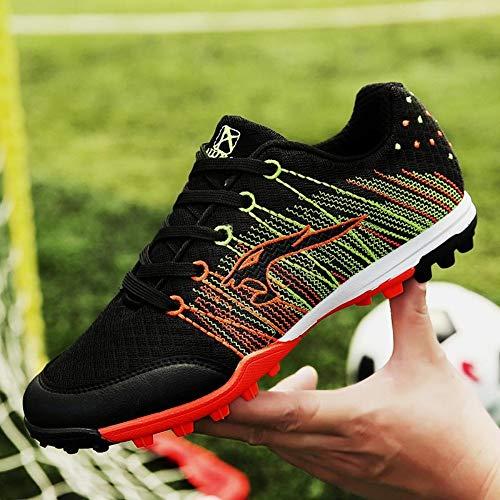 YAYADI Uomini Scarpe da Calcio Sneakers Indoor Futsal Turf Football Scarpe Antiscivolo Tacchetti Calcio Scarpe Sportive,36
