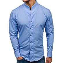 best service 058e7 a71cf Amazon.it: camicia bianca coreana - Blu